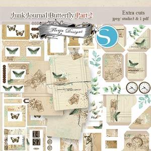 Junk Journal Butterfly PART 2 [Extras Cuts PU] by Florju Designs