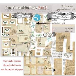 Junk Journal Butterfly PART 2 [Bundle PU] by Florju Designs