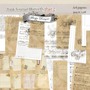 Junk Journal Butterfly PART 2 [A4 papers PU] by Florju Designs