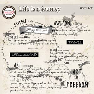 Life is a journey [ Word Art PU ] by Florju Designs