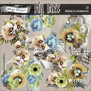 Fly Free { Embellishments PU } by Florju Designs