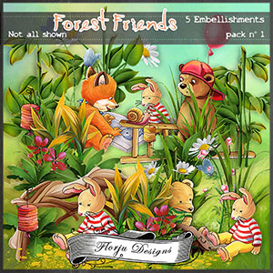 Forest Friends Embellishments Pack 1