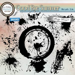 Goodbye Summer { Ink Brush PU } by Florju Designs
