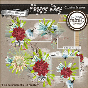 Happy Day { Clusterframes PU } by Florju Designs