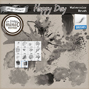 Happy Day { Watercolor Brush PU } by Florju Designs