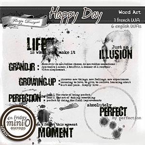 Happy Day { Word Art PU } by Florju Designs