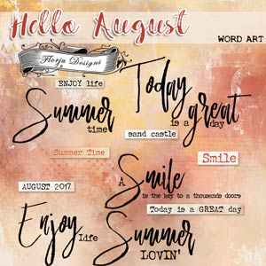 Hello August {Word art PU} by Florju Designs