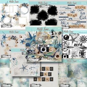 Hello June { Bundle PU } by Florju Designs