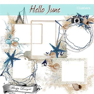Hello June { Clusters PU } by Florju Designs