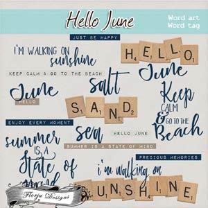 Hello June { Word art PU } by Florju Designs