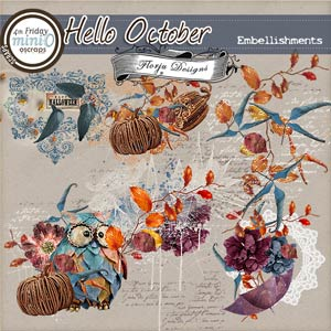 Hello October  { Embellishments PU } by Florju Designs
