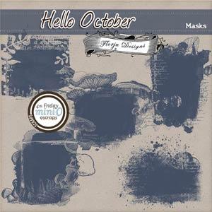 Hello October  { Masks PU } by Florju Designs