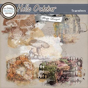 Hello October  { Transfers PU } by Florju Designs