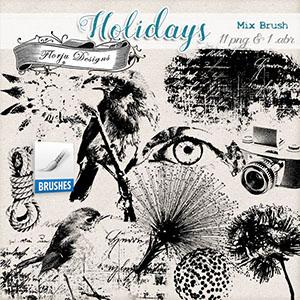 Holidays { Mix Brush PU } by Florju Designs