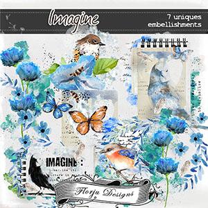 Imagine { Embellishments PU } by Florju Designs