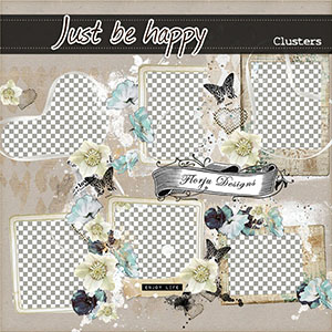 Just Be Happy { Clusters kit PU } Florju Designs