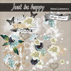 Just Be Happy { Embellishments kit PU } Florju Designs