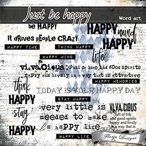 Just Be Happy { WA PU } Florju Designs