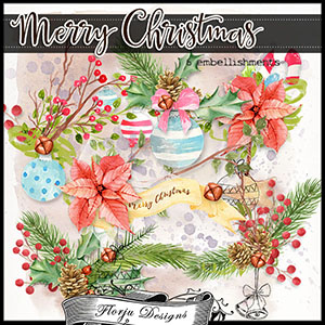 Merry Christmas Embellishments