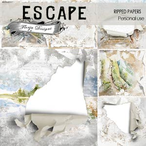 Escape Ripped Papers PU by Florju Designs
