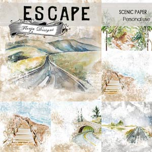 Escape Scenic Papers PU by Florju Designs