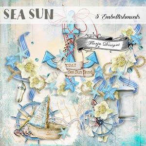 Sea Sun { Embellishments PU } by Florju designs