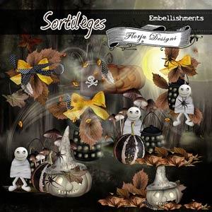 Sortileges {Embellishment pack PU} by Florju Designs