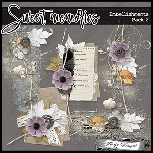 Sweet memories { Embellishments Pack 2 PU } by Florju Designs