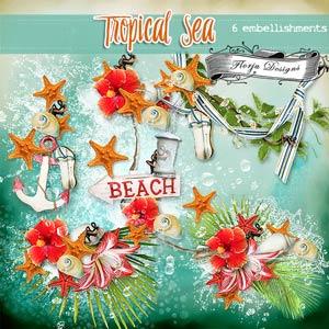 Tropical Sea { Embellishments PU } by Florju Designs