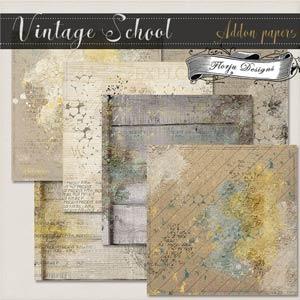 Vintage School { Addon Paper PU } by Florju Designs