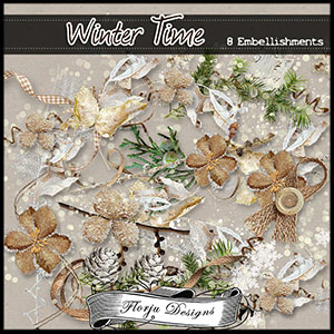 Winter Time { Embellishments PU } Florju Designs