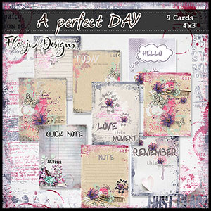 """A perfect Day Journaling Cards 4""""x3"""""""