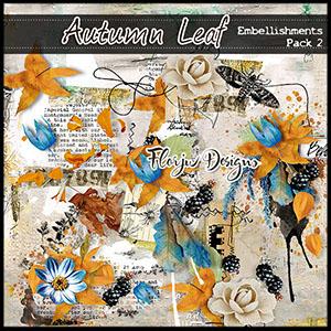 Autumn Leaf Embellishment Pack 2