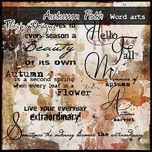 Autumn Path Word Art