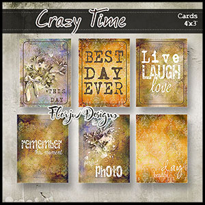 Crazy Time  Journal cards 4x3