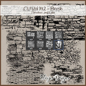 CU vol 142 Brush Wall Brick