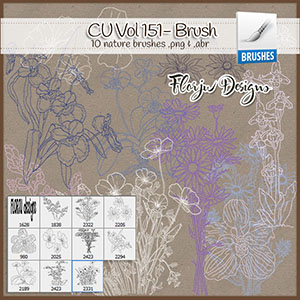 CU vol 151 Flowers Brush