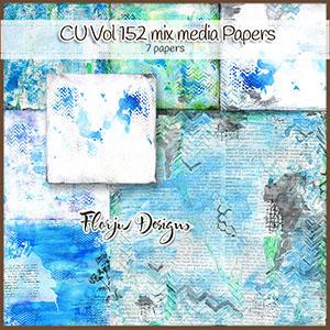 Cu Vol 152 Mix Media Blue Papers