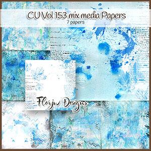 Cu Vol 153 Mix Media Blue Papers