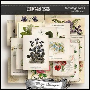 CU vol 224 Flowers Cards by Florju Designs