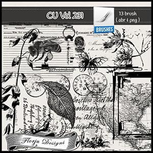 CU vol 231 Brush / Stamp by Florju Designs