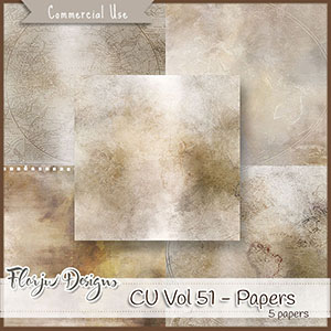 Cu Vol 51 Travel Papers by Florju Designs
