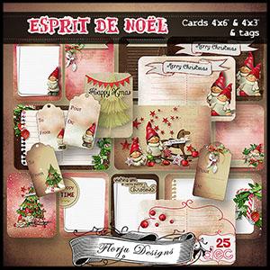 "Esprit de Noël Cards 4""x3 and 4""x6"""