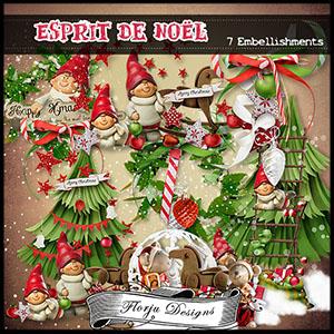 Esprit de Noël Embellishments