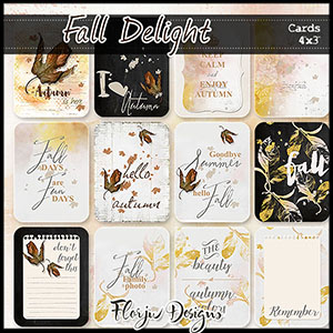 Fall delight Journaling Cards 4x3