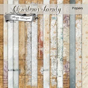 Christmas Family Papers PU by Florju Designs