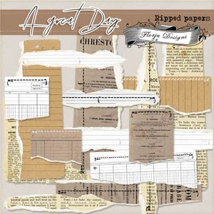 A Great Day -Ripped Papers PU- by Florju Designs