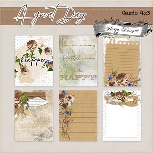 """A Great Day [ Cards 4""""x3"""" PU ] by Florju Designs"""