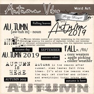 Autumn Vibes [ English Word Art PU ] by Florju Designs