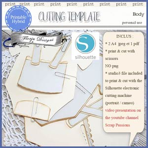 Cutting Template Baby by Florju Designs PU